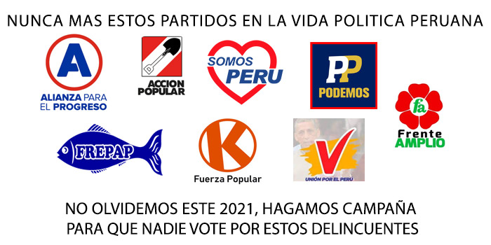 Partidos politicos peruanos corruptos